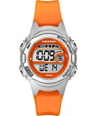 Timex TW5K96800 Ladies Marathon Mid Size Orange Resin Chronograph Strap Watch