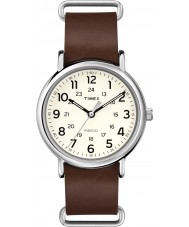 Timex T2P495 Weekender Brown Leather Strap Watch