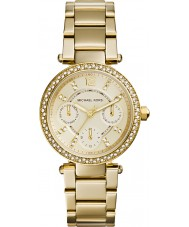 Michael Kors MK6056 Ladies Mini Parker Gold Plated Bracelet Watch