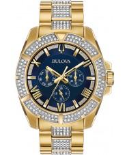 Bulova 98C128 Mens Crystal Watch