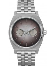 Nixon A922-2564 Mens Time Teller Deluxe Silver Steel Bracelet Watch