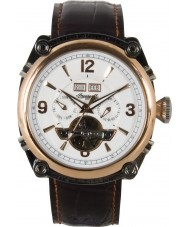 Ingersoll IN4505RWH Mens Montgomery White Brown Watch
