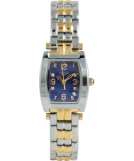 Krug Baümen 1964DLT Tuxedo Two Tone 4 Diamond Blue Dial Steel-Two Tone Strap