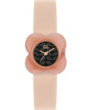Orla Kiely OK2060 Ladies Poppy Pink Flower Case Nude Leather Strap Watch