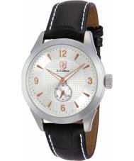 S Coifman SC0113 Mens Black Leather Strap Watch