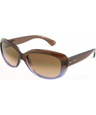Ray-Ban RB4101 58 Jackie OHH Brown Gradient Lilac 860-51 Sunglasses