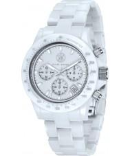 Klaus Kobec KK-10015-03 Racer White Ceramic Chronograph Watch
