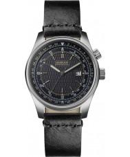 Barbour BB038SLBK Mens Boldon Black Leather Strap Watch