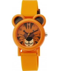 Tikkers TK0090 Boys Orange Silicone Tiger Watch