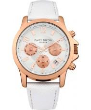 Daisy Dixon DD002WRG Ladies Adriana Multidial White Leather Strap Watch