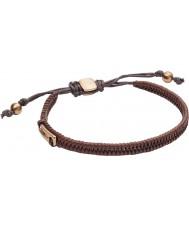 Fossil JF02467710 Mens Vintage Casual Dark Brown Leather Bracelet