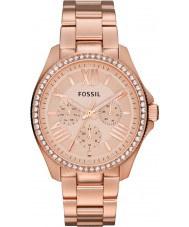 Fossil AM4483 Ladies Cecile Rose Gold Plated Chronograph Watch