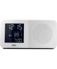 Braun BNC010WH-RC Radio Alarm Clock - White