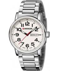 Wenger 01-0341-102 Mens Attitude Silver Steel Bracelet Watch