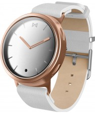Misfit MIS5003 Phase White Leather Watch Compatible with Android and iOS