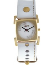 Levis L010GIGWRW Ladies White Leather Strap With White Dial Watch