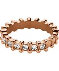 Dyrberg Kern 334814 Ladies Gafa III Rose Gold Plated Ring with Swarovski Elements - Size Q