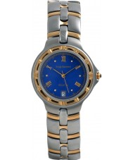 Krug Baümen 2615KM Mens Regatta Blue Steel Gold Watch