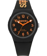 Superdry SYG164B Urban Black Silicone Strap Watch
