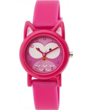 Tikkers TK0092 Girls Pink Silicone Owl Watch