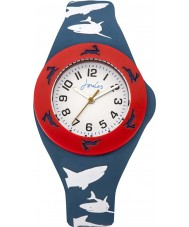 Joules JS020 Boys Pop Out Watch with Printed and Plain Interchangeable Straps