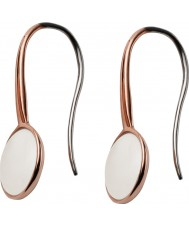 Skagen SKJ0824791 Ladies Sea Glass Rose Gold Plated Earrings
