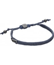 Fossil JF02469793 Mens Vintage Casual Navy Leather Bracelet
