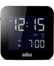Braun BNC008BK-RC Global Radio Controlled Travel Alarm Clock - Black