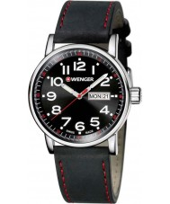 Wenger 01-0341-103 Mens Attitude Black Leather Strap Watch