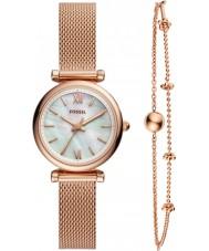 Fossil ES4443SET Ladies Carlie Watch and Bracelet Gift Set