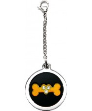 I Puppies PF-004-A Dog Steel and Orange Tag For Collar Medallion