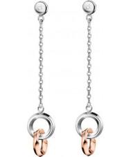 Calvin Klein KJ4NPE200100 Ladies Beauty Two Tone Rose Gold Plated Earrings