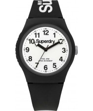 Superdry SYG164BW Urban White Black Silicone Strap Watch