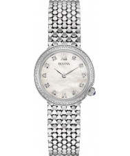 Bulova 96W206 Ladies Diamond Silver Steel Bracelet Watch
