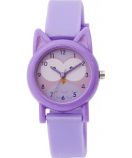 Tikkers TK0091 Girls Purple Silicone Owl Watch