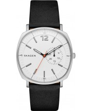 Skagen SKW6256 Mens Rungsted Black Leather Strap Watch