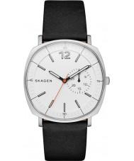 Skagen SKW6256 Mens Rungsted Black Leather Strap Watch