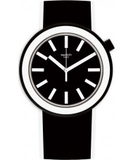 Swatch PNB100 Poplooking Black Silicone Strap Watch