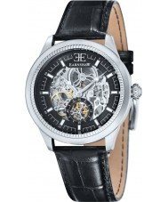 Thomas Earnshaw ES-8039-01 Mens Academy Black Croco Leather Strap Watch