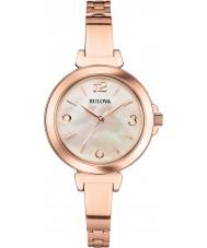 Bulova Ladies Dress Rose Gold Steel Bracelet Watch
