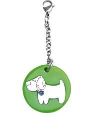 I Puppies PY-006 Dog Green Medium Medallion