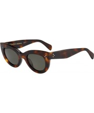 Celine Ladies CL 41050-S 05L 1E Tortoiseshell Sunglasses