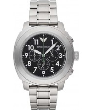 Emporio Armani AR6056 Mens Black Silver Chronograph Sports Watch