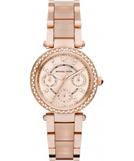 Michael Kors Ladies Mini Parker Rose Gold Plated Bracelet Watch