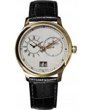 Dreyfuss and Co DGS00121-06 Mens Gold Plated Black Leather Strap Watch