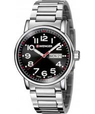 Wenger 01-0341-104 Mens Attitude Silver Steel Bracelet Watch