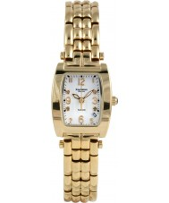Krug Baümen 1963DLG Tuxedo Gold 4 Diamond White Dial Gold Strap