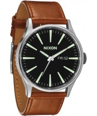 Nixon A105-1037 Sentry Black Saddle Watch