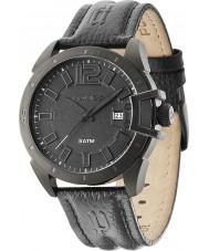 Police 14105JSB-02 Mens Bracket Black Leather Strap Watch