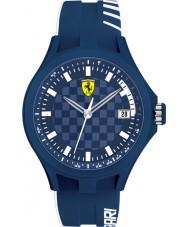 Scuderia Ferrari 0830129 Mens Pit Crew Blue Rubber Watch